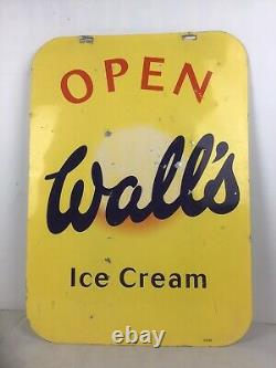 Advertising Sign Vintage Walls Ice Cream. Double Sided