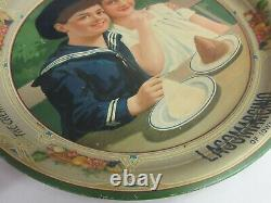 Authentic Ideal Ice Cream Lagomarcino Vintage Advertising Serving Tray 941-n