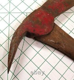 Cool! Vintage Antique Fire Rescue AX Ice Harvesting Axe with Pick 4.14 Lbs 25 OAL