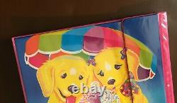 NEW Rare Vintage 1990s Lisa Frank Casey & Candy Ice Cream Trapper Keeper Binder