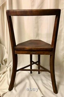 Pair of Frank Rieder And Sons 1920s wooden Seatmore Ice cream parlor chairs