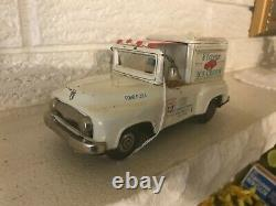Rare Complete Vintage Bandai Japanese Tin Flavor Ice Cream Truck Friction