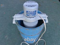 VINTAGE MAID OF HONOR ELECTRIC 4 qt. ICE CREAM FREEZER BY SEARS, ROEBUCK & CO