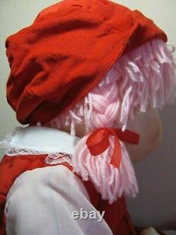 VINTAGE NEW 1980s LARGE 24 TALL RED ICE CREAM CHARACTER GIRL DOLL TOY RARE