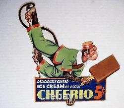 Vintage 1941 Advertising Card for Ice Cream-Cheerio with Monkey on a Rope