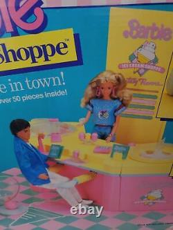 Vintage Barbie Ice Cream Shoppe & Cart Playset 1986 Brand New in Sealed Box