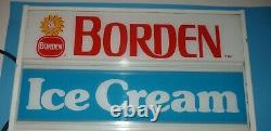 Vintage Borden Dairy Elsie the Cow ice Cream Special Hanging Lighted Sign works