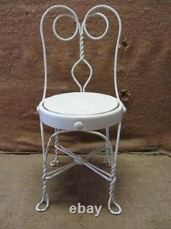 Vintage Childs Ice Cream Chair Antique Old Stool Parlor Soda Fountain 7044