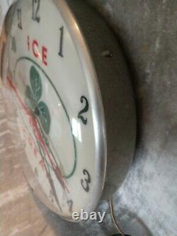Vintage Clover Brand Ice Cream Plastic bubble wall clock lighted WORKS