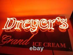 Vintage Dreyers Ice Cream Neon Sign Corner Country General Store Display Edys