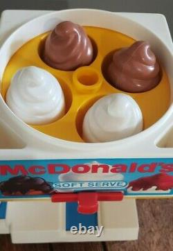 Vintage Fisher Price McDonald's Soda Fountain Ice Cream Shop Toy COMPLETE SET