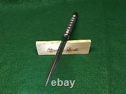 Vintage Gold Blacksmith Two-Piece Custom Ice Pick Tactical Design Tool Polished
