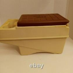 Vintage Igloo Little Kool Rest Car Cooler Console Ice Chest Cup Holder bro Cream
