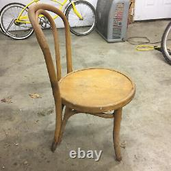 Vintage Kids Childrens Bent Wood Wooden Ice Cream Parlor Chair Mid Century 50s