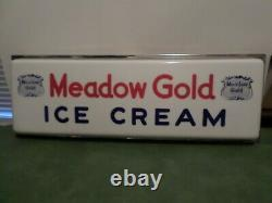 Vintage Meadow Gold Ice Cream Light Up Sign