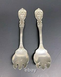 Vintage Pair Francis 1 Reed & Barton Sterling Silver Ice Cream Forks Very Good