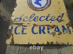 Vintage Rare HTF 2-Sided DSP PORCELAIN Dolly Madison Ice Cream Advertising SIGN