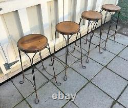 Vintage Set of 4 Great Northern Chair Co. Chicago Ice Cream Parlor Stools
