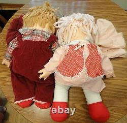 Vintage collectible Ice Cream Dolls 1980 boy girl lot of 2
