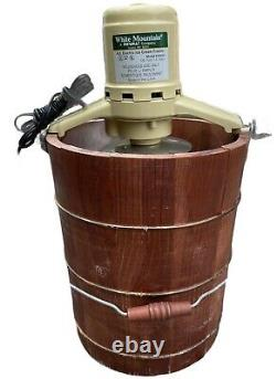 Vtg WHITE MOUNTAIN 4 Qt Electric ICE CREAM Maker USA 69204 Up to 6 Qt in 30 min